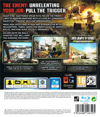 Heavy Fire: Shattered Spear PS3 backM (BLES01869)