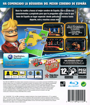 Buzz! ¿Qué sabes de tu País? PS3 backM (BCES00351)