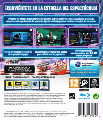Buzz! Concurso Universal PS3 backM (BCES00645)