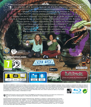 Wonderbook: El Libro de las Pociones PS3 backM (BCES01866)