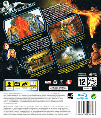 Los 4 Fantásticos y Silver Surfer PS3 backM (BLES00075)