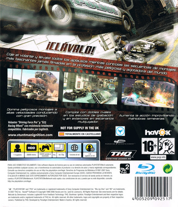Stuntman: Ignition PS3 backM (BLES00135)