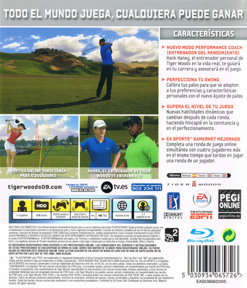 Tiger Woods PGA Tour 09 PS3 backM (BLES00295)