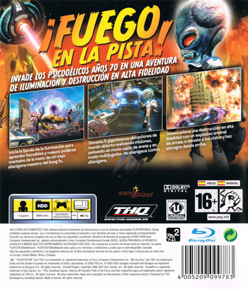 Destroy All Humans! El Camino del Recto Furon PS3 backM (BLES00467)