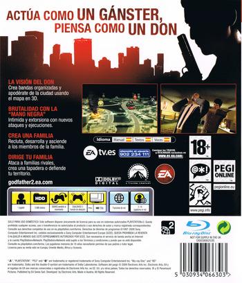 El Padrino II PS3 backM (BLES00477)