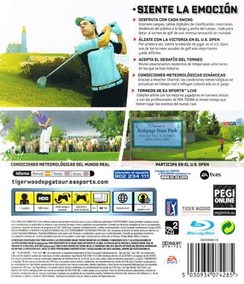 Tiger Woods PGA Tour 10 PS3 backM (BLES00530)