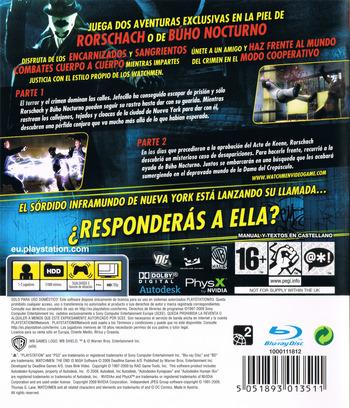 Watchmen: El Fin Está Cerca - Partes 1 y 2 PS3 backM (BLES00605)