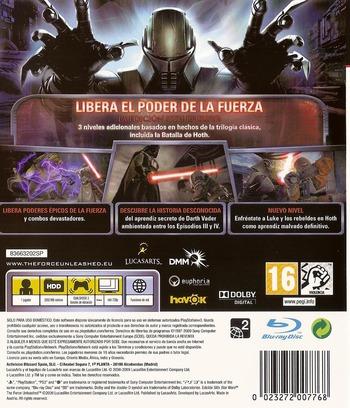 Star Wars: El Poder de la Fuerza: Edición Sith PS3 backM (BLES00678)