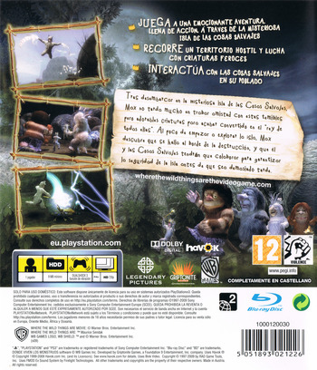 Donde viven los Monstruos PS3 backM (BLES00724)