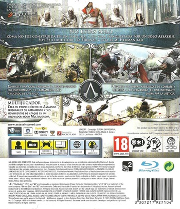 Assassin's Creed: La Hermandad PS3 backM (BLES00909)
