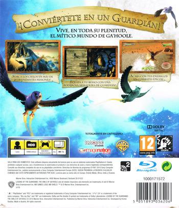 Ga'Hoole: La Leyenda de los Guardianes PS3 backM (BLES00964)