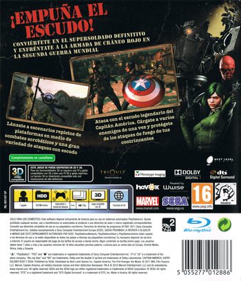 Capitán América: Super Soldado PS3 backM (BLES01167)