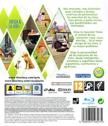 Los Sims 3: ¡Vaya Fauna! PS3 backM (BLES01368)