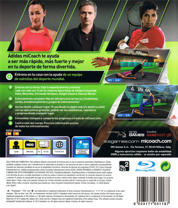 Adidas miCoach PS3 backM (BLES01529)