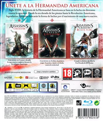 Assassin's Creed: El origen de un nuevo mundo - La Saga Americana PS3 backM (BLES02085)