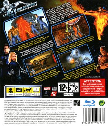Les 4 Fantastiques et le Surfer d'Argent PS3 backM (BLES00075)