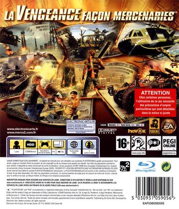 Mercenaries 2:L'Enfer des Favelas PS3 backM (BLES00323)