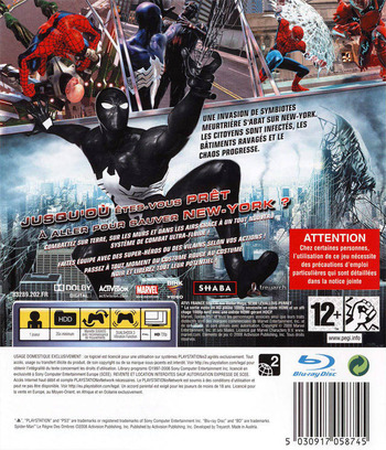 Spider-Man: Le Règne des Ombres PS3 backM (BLES00392)
