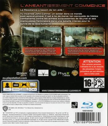 Terminator Renaissance PS3 backM (BLES00537)