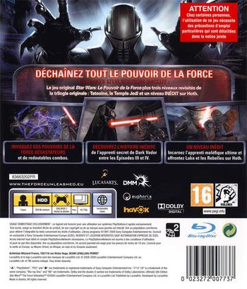 Star Wars:Le Pouvoir de la Force (Ultimate Sith Edition) PS3 backM (BLES00678)