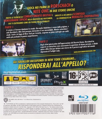 Watchmen: La Fine E' Vicina - Parte 1&2 PS3 backM (BLES00605)