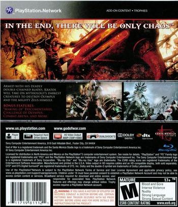 God of War III PS3 backM (BCUS98111)