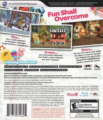 LittleBigPlanet PS3 backM (BCUS98148)