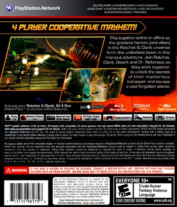 Ratchet & Clank: All 4 One PS3 backM (BCUS98175)