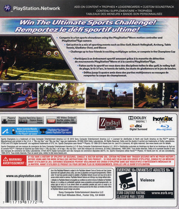 Sports Champions PS3 backM (BCUS98177)