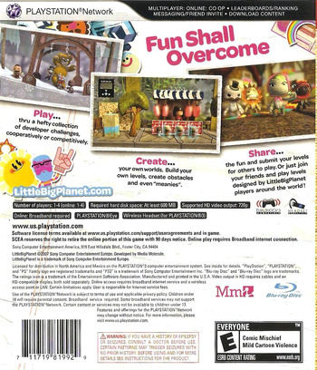 LittleBigPlanet PS3 backM (BCUS98199)
