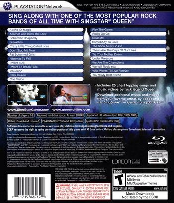 SingStar Queen PS3 backM (BCUS98206)