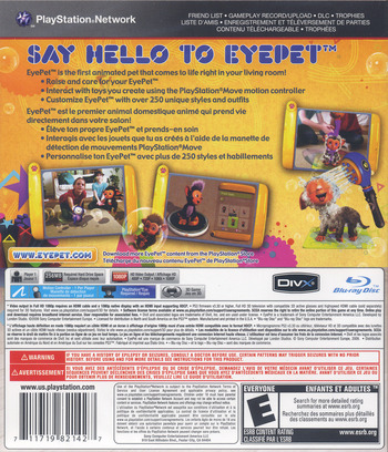 EyePet: Move Edition PS3 backM (BCUS98214)