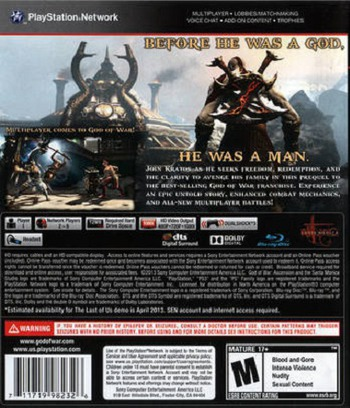 God of War: Ascension PS3 backM (BCUS98232)