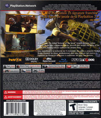 Uncharted 3: Drake's Deception PS3 backM (BCUS98233)