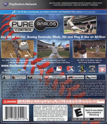 MLB 11: The Show PS3 backM (BCUS98251)