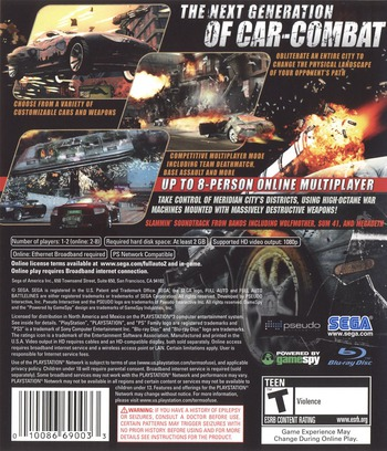 Full Auto 2: Battlelines PS3 backM (BLUS30009)