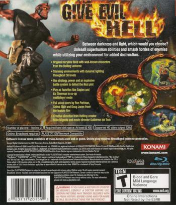 Hellboy: Science of Evil Array backM (BLUS30048)