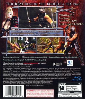 Ninja Gaiden Sigma (Collector's Edition) PS3 backM (BLUS30051)