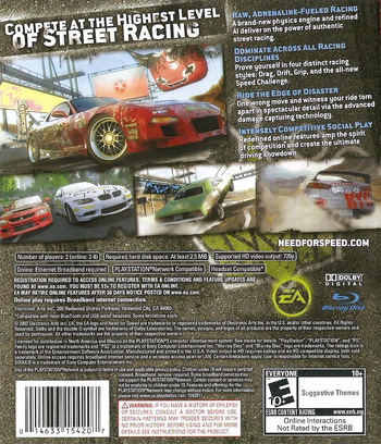 Need for Speed: ProStreet PS3 backM (BLUS30066)