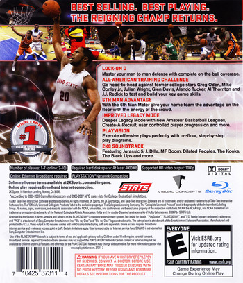 College Hoops 2K8 PS3 backM (BLUS30078)