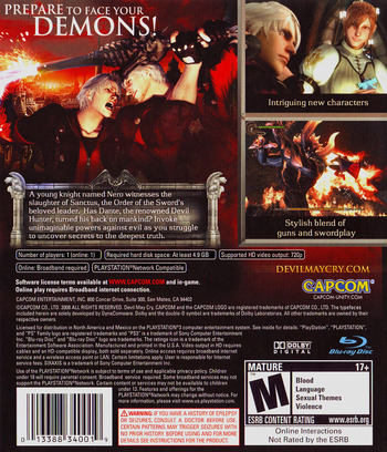 Devil May Cry 4 PS3 backM (BLUS30092)