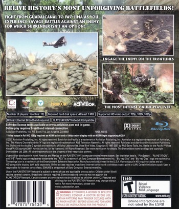 History Channel: Battle for the Pacific PS3 backM (BLUS30103)