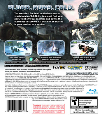 Lost Planet: Extreme Condition PS3 backM (BLUS30113)