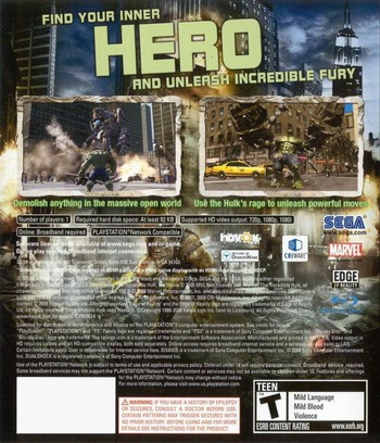 The Incredible Hulk PS3 backM (BLUS30152)