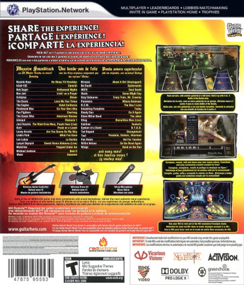 Guitar Hero: World Tour PS3 backM (BLUS30164)