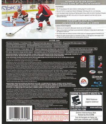 NHL '09 PS3 backM (BLUS30168)