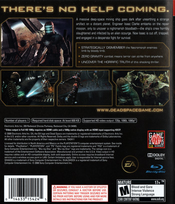 Dead Space PS3 backM (BLUS30177)