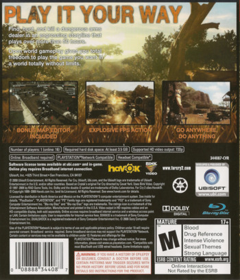 Far Cry 2 PS3 backM (BLUS30178)