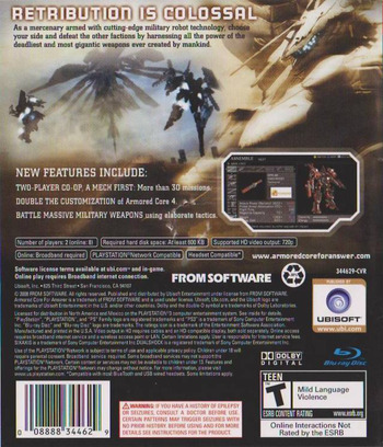 Armored Core: For Answer Array backM (BLUS30187)
