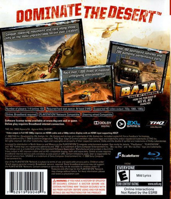 Baja: Edge of Control PS3 backM (BLUS30191)